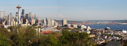 Seattle Skyline Panorama Stock Photos