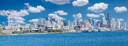 Seattle Skyline Panorama Royalty Free Stock Photography