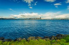 Seattle Skyline Panorama Stock Images