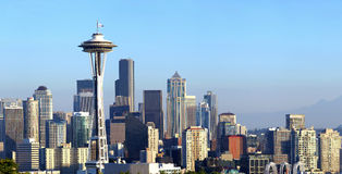 Seattle skyline panorama at sunset. Stock Photography