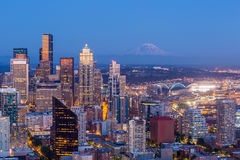 Seattle skyline panorama at sunset Royalty Free Stock Images