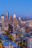 Seattle skyline panorama at sunset Stock Image