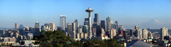 Seattle skyline panorama, Washington state. Royalty Free Stock Photos