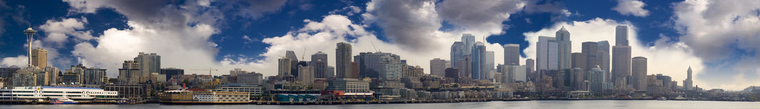 Seattle Skyline Panoramic Stock Photos