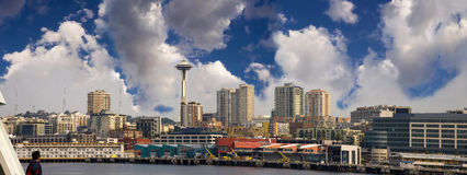 Seattle Skyline Panoramic Stock Photo
