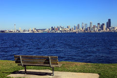 Seattle skyline & park. Royalty Free Stock Images