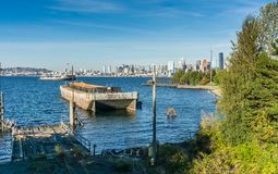Seattle Skyline From Park stock image