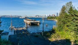 Seattle Skyline From Park 2 royalty free stock photos