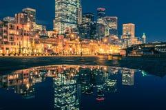 Seattle Skyline Reflections Stock Photo