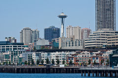 Seattle Skyline and Space Needle Stock Photo