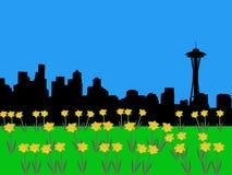 Seattle skyline in springtime Stock Photo