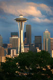 Seattle skyline and storm Royalty Free Stock Photos