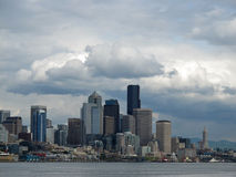 Seattle skyline. With storm clouds in background Stock Photography