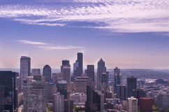 Seattle Skyline. On a sunny day Stock Photos
