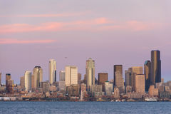 Seattle Skyline at Sunset Stock Images