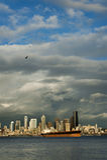 Seattle Skyline at Sunset Stock Image