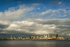 Seattle Skyline at Sunset Royalty Free Stock Photography