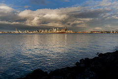 Seattle Skyline at Sunset royalty free stock image