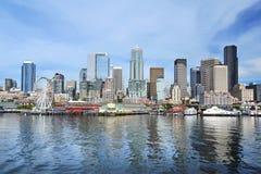 Seattle skyline. The Seattle skyline taken from across Elliott Bay, WA, USA Stock Image