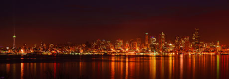 Seahawks Fans Seattle Skyline Royalty Free Stock Photography