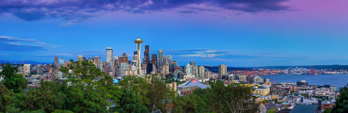Seattle skyline at twilight Stock Photography