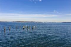 Seattle Skyline View From Bainbridge Island stock photography