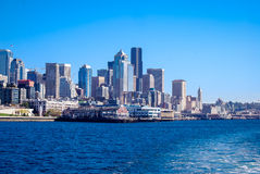 Seattle Skyline. View of the Seattle city skyline from the water Stock Images