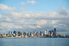 Seattle skyline. Seattle, WA, USA Feb. 11, 2017: City of Seattle, Washington as seen from Elliot Bay Stock Image