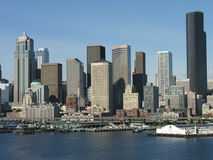 Seattle Skyline, Washington. A view of the impressive Seattle skyline and waterfront Royalty Free Stock Photography