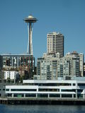 Seattle skyline from the water Royalty Free Stock Photo