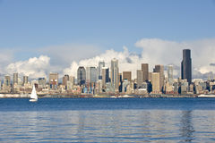 Seattle Skyline and Waterfront Royalty Free Stock Image