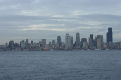 Seattle Skyline from West Seattle. Right after sunset Royalty Free Stock Images