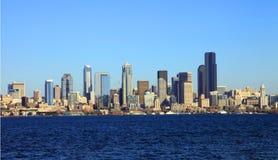 Seattle-Skylinepanorama, Staat Washington. Stockbild