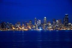 Seattle skymning Arkivfoto