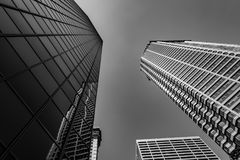 Seattle Skyscrapers black and White Royalty Free Stock Image