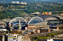 Seattle skyview Royaltyfria Bilder