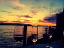 Seattle solnedgång Royaltyfri Fotografi
