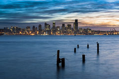 Seattle soluppgång arkivfoton