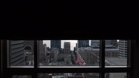 Seattle som är svart ut upp dag stock video