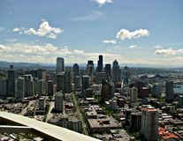 Seattle from Space Needle 1 Stock Image
