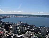 Seattle from Space Needle 2 Royalty Free Stock Photography