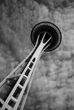 Seattle Space Needle Black and White Stock Image