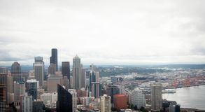 On Seattle space needle. Shoot in Seattle, top of the space needle Royalty Free Stock Images