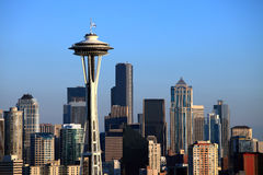 The Seattle space needle and skyline. Stock Image