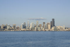 Seattle city. Seattle in Spring time from Alki Beach. Seattle is one of the most beautiful cities in the US. It is surrounding by lakes and the sea Stock Images