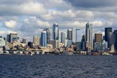 Seattle stadshorisont Fotografering för Bildbyråer