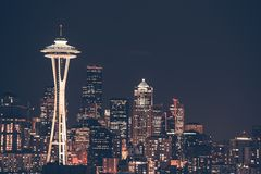 Seattle stadshorisont Royaltyfria Foton