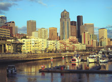 Seattle-Stadt Lizenzfreies Stockbild