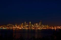 Seattle-Stadt-im Stadtzentrum gelegene Skyline Stockbild