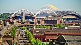 Seattle-Stadt-Verkehrs-Zeitspanne stock video
